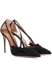 Escarpins en daim Parisienne 105 Aquazzura en coloris Black
