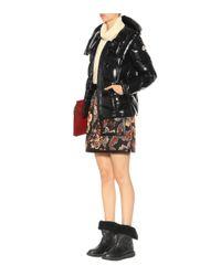 Veste doudoune à capuche Akebia Moncler en coloris Black