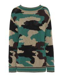 Jersey de algodón de camuflaje Burberry de color Green