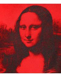 Felpa in cotone con stampa di Off-White c/o Virgil Abloh in Red