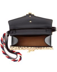 Gucci Multicolor Sylvie Mini Leather-trimmed Calf Hair Shoulder Bag