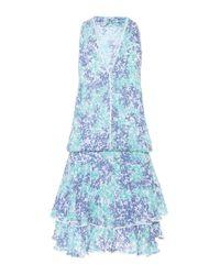 Poupette Blue Printed Jersey Dress