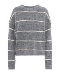 Acne Gray Rhira Mohair-blend Sweater