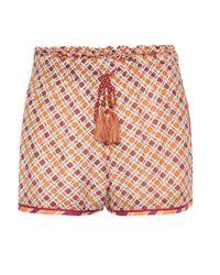 Short imprimé en coton et soie mélangés Talitha en coloris Multicolor