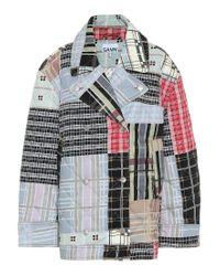 Giacca di jeans trapuntata di Ganni in Multicolor