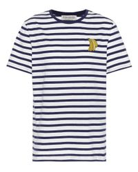 Camiseta de algodón de rayas Banana Être Cécile de color Blue