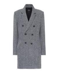 Manteau en laine mélangée Joan A.P.C. en coloris Blue