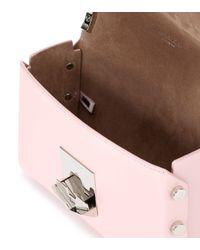 Jimmy Choo Pink Lockett Petite Leather Shoulder Bag