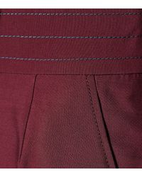 Roksanda Purple Hose Sina aus einem Woll-Seidengemisch