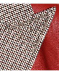 Blazer de lana de cuadros adornado Magda Butrym de color Brown