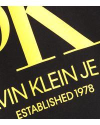 CALVIN KLEIN JEANS EST. 1978 Black Bedruckter Hoodie