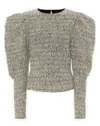 Isabel Marant Black Hamili Wool-blend Top