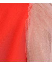 Delpozo Red Silk Top