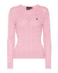 Pullover in cotone di Polo Ralph Lauren in Pink