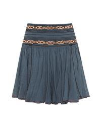 Falda en algodón bordado Breeda Étoile Isabel Marant de color Blue