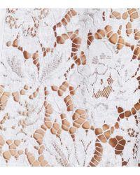 Valentino White Seidenbluse mit Spitze