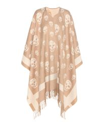 Alexander McQueen - Brown Wool And Cashmere Cape - Lyst