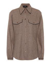 Rochas Brown Bluse aus einem Wollgemisch