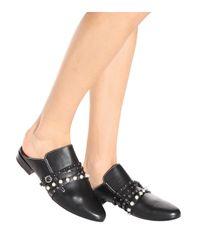 3.1 Phillip Lim Black Leather Slippers