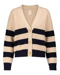 Cardigan rayé en laine et cachemire Jardin Des Orangers en coloris Natural