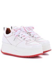 Ganni White Exklusiv bei mytheresa – Sneakers Edel aus Lackleder