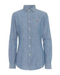 Polo Ralph Lauren Blue Cotton Chambray Shirt