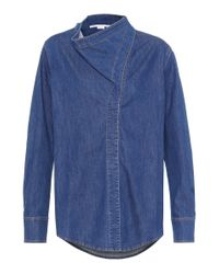 Stella McCartney Blue Cotton Denim Shirt