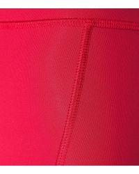 Fendi Red Leggings aus technischem Gewebe