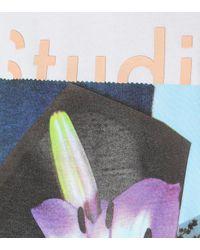 Sudadera en mezcla de algodón Acne de color Multicolor