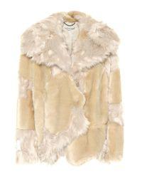 Giacca in pelliccia sintetica di Stella McCartney in Natural