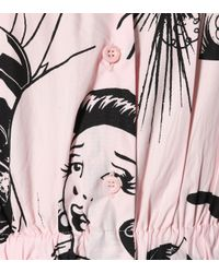 Prada Pink Sleeveless Printed Cotton Dress