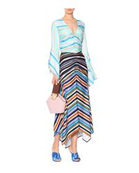 Peter Pilotto Blue Striped Maxi Skirt