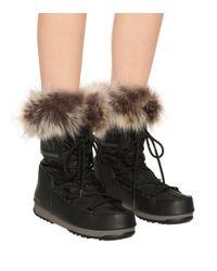 Moon Boot Black Monaco Low 2 Schwarze Schnee Stiefel