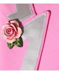 Blazer à appliqués de roses Dolce & Gabbana en coloris Pink