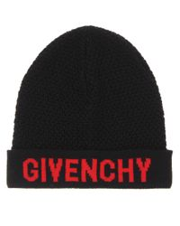 Givenchy - Black Knitted Wool Beanie - Lyst