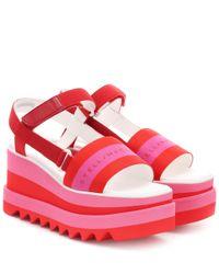 Chaussure à Talon Compensé Femme Pas cher en Soldes Stella McCartney en coloris Red