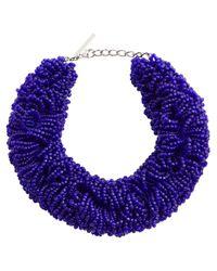 Dries Van Noten Blue Verzierte Halskette