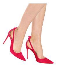 Escarpins en daim Deneuve 105 Aquazzura en coloris Pink