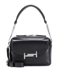 Tod's Black Double T Leather Shoulder Bag