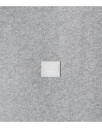 Acne Gray Sweatshirt Fairview Face aus Baumwolle