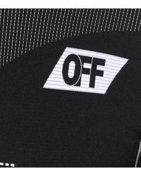 Off-White c/o Virgil Abloh Black Minikleid aus Stretch-Strick