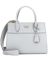 Prada Gray Paradigme Leather Handbag