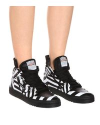Off-White c/o Virgil Abloh Black Off-court Leather Sneakers