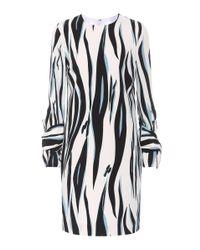 Victoria, Victoria Beckham Black Striped Crêpe Dress