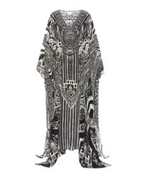 Camilla Multicolor Embellished Silk Kaftan