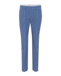 Tory Sport Blue Printed Tech Stretch Golf Trousers