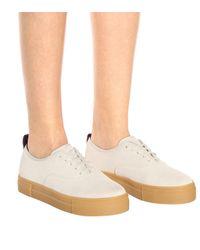 Eytys White Sneakers Mother aus Leder