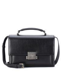 Saint Laurent Black Leather Shoulder Bag
