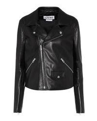 Loewe Black Leather Jacket