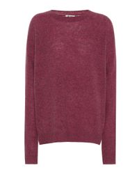 Acne Purple Deniz Wool Sweater